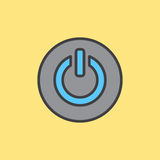 Power button filled outline icon Stock Image