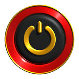 Power button icon. 3d image - a power button icon Stock Photography