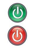 Power button icon Stock Photography