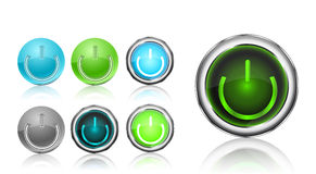 Power button icon set Stock Image