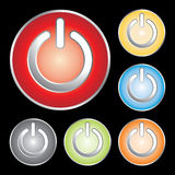 Power button icons Stock Photography