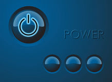 Power button illustration Royalty Free Stock Images