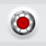 Power button with lcd display Royalty Free Stock Image