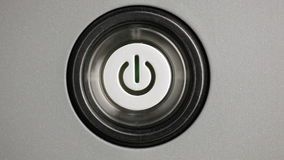 Power button stock video footage