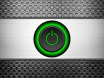 Power button metal grid Stock Photos