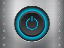 Power button metal Stock Image