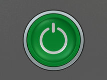 Power on button Royalty Free Stock Photos