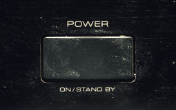 Power Button on an old Amplifier Royalty Free Stock Images