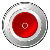 Power button over white Royalty Free Stock Image