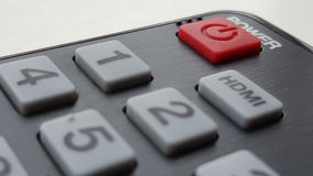 Power Button. On remote control Royalty Free Stock Image