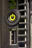 Power Button on a Server Royalty Free Stock Photography