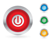 Power button set vector illustration