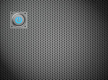 Power button on silver grate Royalty Free Stock Photos