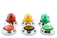 Power button and status indicator light Royalty Free Stock Photo