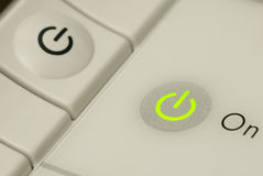 Power Button and Status Light Royalty Free Stock Photos
