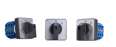 Power button switch isolated on the white background Royalty Free Stock Image