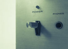 Power button switch Royalty Free Stock Photos