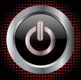 Power button - vector Royalty Free Stock Images
