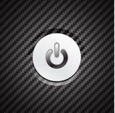 Vector metal power button Stock Photography