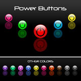 Power Buttons Royalty Free Stock Images