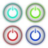 Power buttons Stock Photos