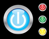 Power buttons. Smart on/off button icons. Please check out my icons gallery Stock Images