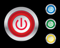 Power buttons Royalty Free Stock Photography