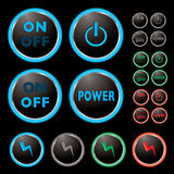 Power buttons Stock Photos