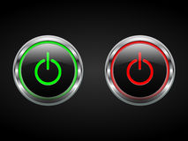 Power buttons Stock Photography
