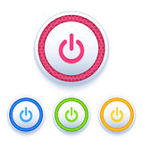 Power buttons icon set Royalty Free Stock Image