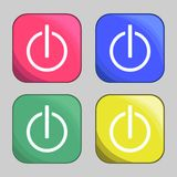 Power buttons icons. Set of icons on a theme power buttons Stock Image
