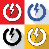 Power buttons set Stock Images