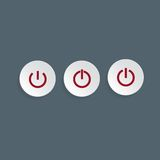 Power buttons for web. Vector illustration. Royalty Free Stock Image