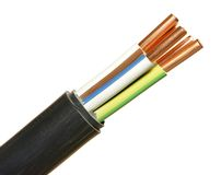 Power cable Stock Photo