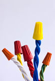 Power cable. On white background Royalty Free Stock Image