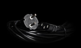 Power cable close-up Royalty Free Stock Images