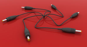 Power Cable Pins stock illustration