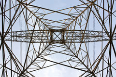 Power cable tower Royalty Free Stock Images