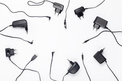 Power charger different adapters Stock Photos
