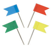 Power checkboxes markers. Multi-coloured power checkboxes markers on white background Royalty Free Stock Photography