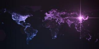 Power of china, energy beam on Beijing. dark map with illuminated cities and human density areas. 3d illustration. Power of china, energy beam on Beijing. dark royalty free illustration