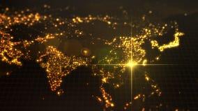 Power of china, energy beam on Hong Kong. dark map with illuminated cities and human density areas. 3d illustration. Power of china, energy beam on Hong Kong stock illustration
