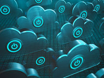 Power Cloud Computing Stock Images