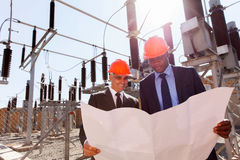 Power company managers Stock Images