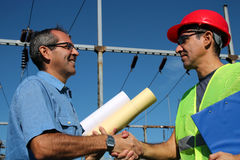 Power Company Workers Royalty Free Stock Photography