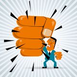 Power concept design. Angry businessman stock illustration