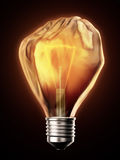 Power concept - glowing bulb Royalty Free Stock Photo