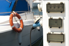 Power connector for yachts Stock Photography
