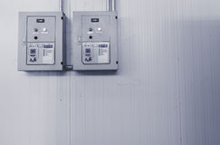 Power control in past day. Power control in factory , look antique stock images