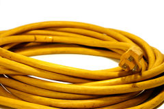 Power Cord. Yellow Power Cord Extension Stock Image